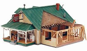 Design-Preservation Woodys Country Mart Kit HO Scale Model Railroad Building #12900