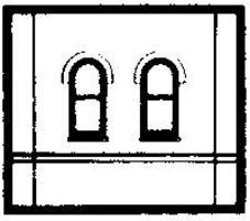 Design-Preservation Window WalL HO Scale Model Railroad Building Accessory #30103