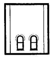 Design-Preservation Second Story Lower Window HO Scale Model Railroad Building Accessory #30110