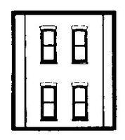 Design-Preservation Two Story Rectangle 4 Window HO Scale Model Railroad Building Accessory #30138