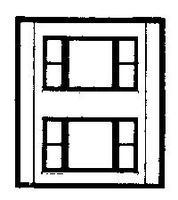Design-Preservation Two Story 20th Century Window HO Scale Model Railroad Building Accessory #30164