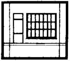 Design-Preservation Dock Level Steel Sash Entry HO Scale Model Railroad Building Accessory #30172