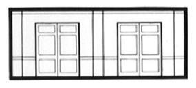 Design-Preservation Street Level Freight Door (3 pack) N Scale Model Railroad Building Accessory #60106
