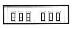 Design-Preservation One-Story Window Section (3 Pack) N Scale Model Railroad Building Accessory #60112
