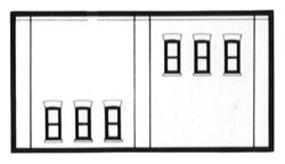 Design-Preservation Two-Story 6 Windows (3 Pack) N Scale Model Railroad Building Accessory #60123