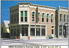 Design-Preservation Kirstens Corner Cafe Kit (8-3/4 x 6-1/4) O Scale Model Railroad Building #80200