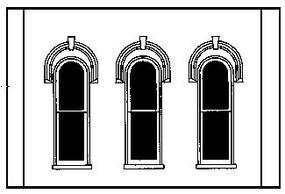Design-Preservation Arched Window Wall O Scale Model Railroad Building Accessory #90102