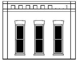 Design-Preservation Squared Window Wall O Scale Model Railroad Building Accessory #90105