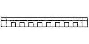 Design-Preservation Cornice O Scale Model Railroad Building Accessory #90109