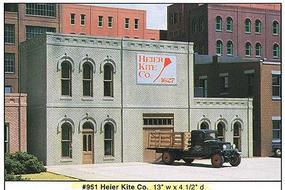 Design-Preservation Heir Kite Co. Kit (13 x 4-1/2) O Scale Model Railroad Building #95100
