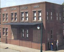 Design-Preservation Laubes Linen Mill Kit HO Scale Model Railroad Building #woo10600