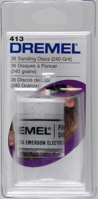 Dremel Mfg. Co. Sanding Disc Fine (36) -- Rotary Power Tool Sanding Bit -- #413