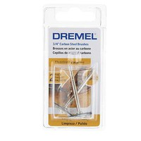 Dremel 3/4 Carbon Steel Brushes (2pk)