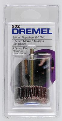 Dremel Mfg. Co. Flapwheel 3/8 80 Grit -- Rotary Power Tool Sanding Bit Accessory -- #502