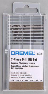 Dremel Mfg. Co. 7pc Drill Bit Set -- Power Tool Accessory -- #628