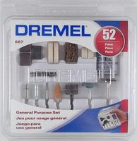 Dremel 52pc General Purpose Set Rotary Power Tool Sanding Buffer Polisher #687-01