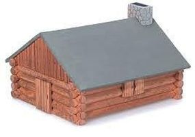 Darice Log Cabin Wooden Model Kit (4''x6'') Premium Wooden Construction Kit #917990
