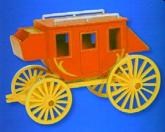Darice Stagecoach Wooden Model Kit (9''x6'') Premium -- Wooden Construction Kit -- #919302