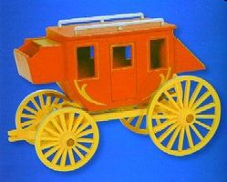 Darice Stagecoach Wooden Model Kit (9''x6'') Premium Wooden Construction Kit #919302