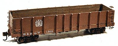 Durango Press HoN3 D&RGW HIGH SIDE GONDOLA