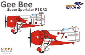 Dora 1/144 Gee Bee Super Sportster R1/R2 Aircraft (2 in 1)