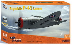 Dora 1/48 Republic P43 Lancer Aircraft (New Tool) (AUG)
