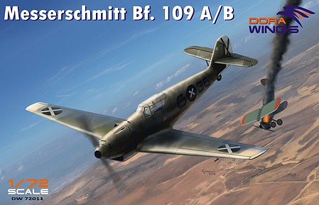 Dora Messerschmitt Bf109A/B Legion Condor Aircraft Plastic Model Airplane Kit 1/72 #72011