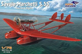 Dora 1/72 Savoia Marchetti S55 Record Flight Flying Boat Aircraft w/Resin Engine (9''L, 13'' Wingspan)
