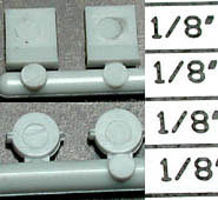 Detail-Assoc Ditch Light/Stnd SP Lw 2/ - HO-Scale (2)