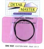 Detail-Master 2ft. Ignition Wire Black Plastic Model Vehicle Accessory Kit 1/24-1/25 Scale #1021