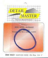 Detail-Master 2ft. Ignition Wire Dark Blue Plastic Model Vehicle Accessory Kit 1/24-1/25 Scale #1023