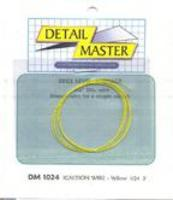 Detail-Master 2ft. Ignition Wire Yellow Plastic Model Vehicle Accessory Kit 1/24 to 1/25 Scale #1024