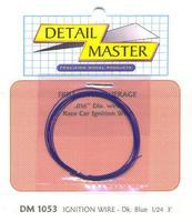 Detail-Master 3ft. Car Ignition Wire Dark Blue Plastic Model Vehicle Accessory Kit 1/24-1/25 Scale #1053