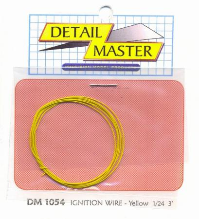 Detail-Master 3ft Race Car Ignition Wire Yellow Plastic Model Vehicle Accessory Kit 1/24-1/25 Scale #1054