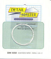 Detail-Master 3ft Race Car Ignition Wire White Plastic Model Vehicle Accessory Kit 1/24-1/25 Scale #1058