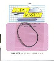 Detail-Master 2ft Detail Wire Black Plastic Model Vehicle Accessory Kit 1/24-1/25 Scale #1101