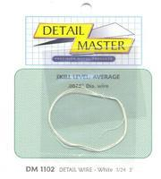 Detail-Master 2ft. Detail Wire White Plastic Model Vehicle Accessory Kit 1/24-1/25 Scale #1102