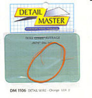 Detail-Master 3ft. Detail Wire Orange Plastic Model Vehicle Accessory Kit 1/24-1/25 Scale #1106
