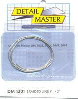 Detail-Master 2ft. Braided Line #1 (.020) Plastic Model Vehicle Accessory Kit 1/24-1/25 Scale #1301
