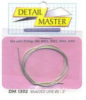 Detail-Master 2ft. Braided Line #2 (.025) Plastic Model Vehicle Accessory Kit 1/24-1/25 Scale #1302