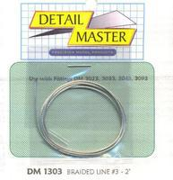 Detail-Master 2ft. Braided Line #3 (.035) Plastic Model Vehicle Accessory Kit 1/24-1/25 Scale #1303