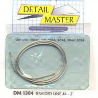 Detail-Master 2ft. Braided Line #4 (.045) Plastic Model Vehicle Accessory Kit 1/24-1/25 Scale #1304