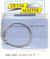 Detail-Master Braided Line #5 (.060/1ft.) Plastic Model Vehicle Accessory Kit 1/24-1/25 Scale #1305