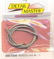 Detail-Master Braided Line #6 .080-1ft Plastic Model Vehicle Accessory Kit 1/24-1/25 Scale #1306