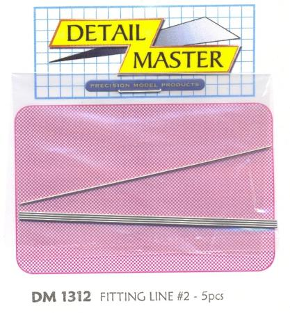 Detail-Master Fitting Line #2 .025 (5pc) Plastic Model Vehicle Accessory Kit 1/24-1/25 Scale #1312