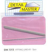 Detail-Master Fitting Line #3 .035 (5pc) Plastic Model Vehicle Accessory 1/24-1/25 Scale #1313