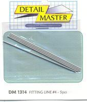 Detail-Master Fitting Line #4 .045 (4pc) Plastic Model Vehicle Accessory Kit 1/24-1/25 Scale #1314