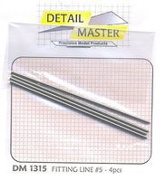 Detail-Master FITTING LINE #5 .062 Plastic Model Vehicle Accessory Kit 1/24-1/25 Scale #1315