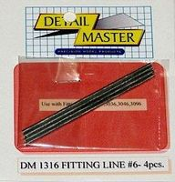 Detail-Master Fitting Line #6 .080 (4pc) Plastic Model Vehicle Accessory Kit 1/24-1/25 Scale #1316