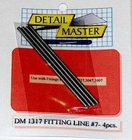 Detail-Master Fitting Line #7 .100 (4pc) Plastic Model Vehicle Accessory Kit 1/24-1/25 Scale #1317
